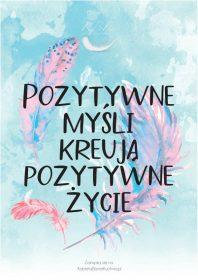 Plakat Piórka pozytywne myśli