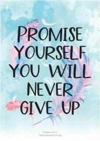Plakat piórka promise
