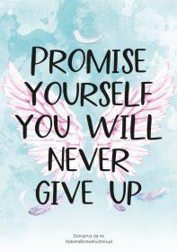 Plakat skrzydła promise yourself
